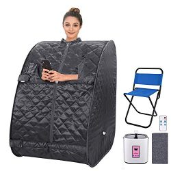 Portable Personal Sauna2L Home Steam Sauna Tent Folding Indoor Sauna Spa Weight Loss Detox with  ...