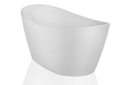 Empava FT1518X67 67 Inch Luxury Freestanding Acrylic Soaking SPA Tub Contemporary Design with Br ...