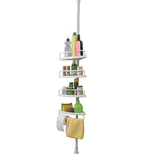 Ellymi Bathroom Shelves Top Floor Corner Bathroom Four-tier Storage Fan-Shaped Shelf Bathroom Ba ...