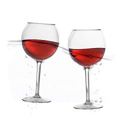 Floating Wine Glasses for Pool (18 Oz | Set of 2) – Pool Wine Glasses That Float | Shatter ...
