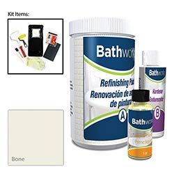 Bathworks DIY Bathtub & Tile Refinishing Kit (BONE); 20 oz; Tub; Tile; Wall Surround; Sink;  ...