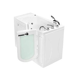 Ella's Bubbles OA3052HH-HB-R Malibu Hydro Massage Walk-In Tub, Fast Fill Faucet, Heated Se ...