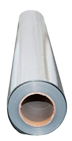 MWS 300 sqft Aluminum Foil Barrier Insulation Sauna Vapor Barrier Waterproof Strong