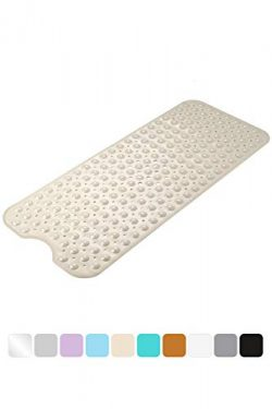 AmazerBath Bath Tub Mat, Extra Long 39 x 16 Inches Non-Slip Shower Mats with Suction Cups and Dr ...