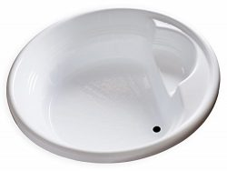 Carver Tubs – FL7272-72″L x 72″W x 18″H – White Drop In Acrylic Ro ...