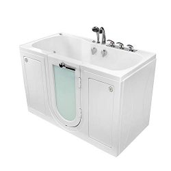 Ella's Bubbles O2SA3260HH-HB-R Tub4Two Hydro Massage Acrylic Walk-In Tub with Heated Seat, ...