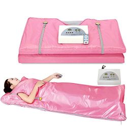 VANELL Sauna Blanket Upgraded Version Far-Infrared Digital Heat Sauna Heating Blanket, 2 Zone Co ...