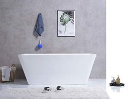 BIG SALE! CE HOME Acrylic Spa 59″ x 28″ Freestanding Soaking Bathtub
