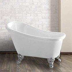 44″ Hamilton Acrylic Slipper Clawfoot Tub