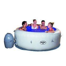 SaluSpa Paris AirJet Inflatable Hot Tub w/ LED Light Show (Renewed)