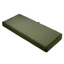 Classic Accessories Montlake Bench Cushion Foam & Slip Cover, Heather Fern, 48x18x3″ Thick