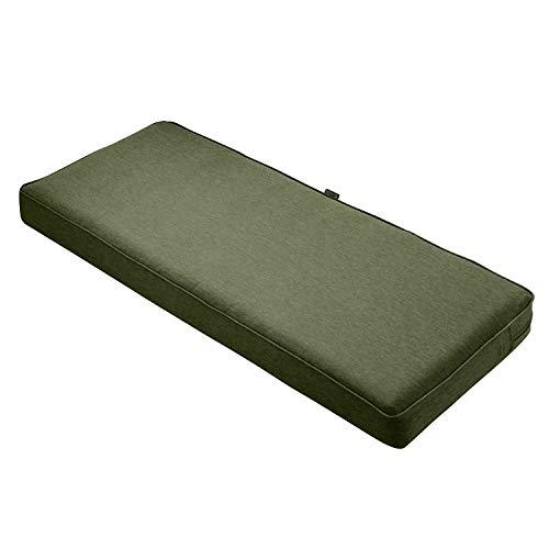 Classic Accessories Montlake Bench Cushion Foam & Slip Cover, Heather Fern, 48x18x3″ Thick