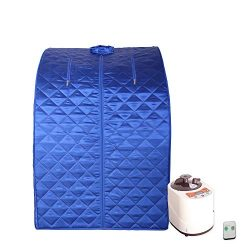 Smartmak Portable Steam Sauna, at Home Full Body One Person Spa Tent, 2L Steamer with Remote Con ...