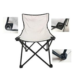 Smartmak Fast Folding Chair,Reinforced, Suitable for Sauna,Beach and Picnic – Grey