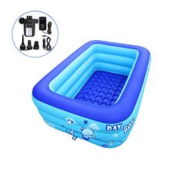 iBigboy Inflatable Hot Tub Bathtub Swimming Pool Portable Travel Pools with Electric Air Pump (1 ...