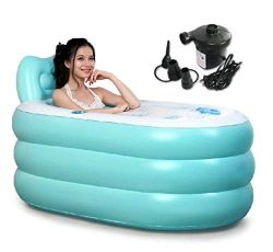 Back to 20s Adult Inflatable Bath Tub (Blue, Large)