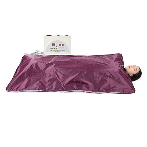 Ejoyous Sauna Blanket, Digital Far Infrared(FIR) Heat Sauna Slimming Blanket Detox Therapy Anti  ...