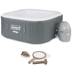 Coleman SaluSpa 4 Person Portable Inflatable Outdoor Hot Tub & Maintenance Kit