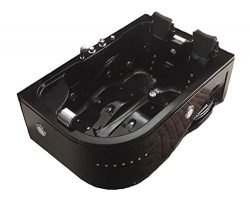 SDI Factory Direct Indoor Jetted Hydrotherapy Bathtub Hot Tub Spa Black 2 Person – 052A Bl ...