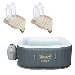 Coleman SaluSpa 4 Person Portable Inflatable Hot Tub w/Cup Holder (2 Pack)