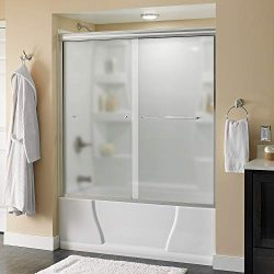 Delta Shower Doors SD3927408 Classic Semi-Frameless Traditional Sliding Bathtub 60″ x58-1/ ...