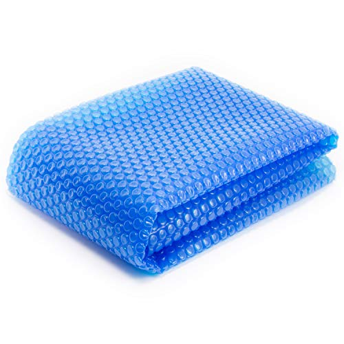 Thermo-Float 16-mil 8ft x 8ft Hot Tub Bubble Cover Floating Spa Blanket – trimmable Heavy- ...