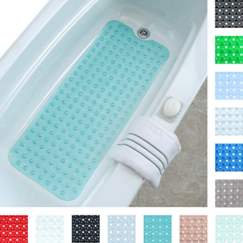 SlipX Solutions Aqua Extra Long Bath Mat Adds Non-Slip Traction to Tubs & Showers – 30 ...