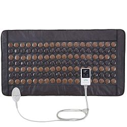 UTK Far Infrared Tourmaline Heating Pad for Full Back Pain Relief – Infrared Therapy Heati ...