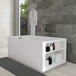 "WOODBRIDGE 59"" x 30″ Modern Acrylic Freestanding Bathtub, With Storage Design, 59 ..."