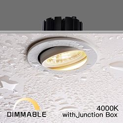 Obsess Dimmable Recessed Ceiling Down Light for Wet Location,Rotatable,with Junction Box,Special ...