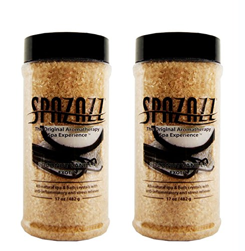 Spazazz Aromatherapy Spa and Bath Crystals 2PK Escape (Coconut Vanilla – 2pk)