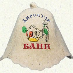 RussianBear White Wool Hat for Sauna Banya Bath House Sauna Director Head Protection