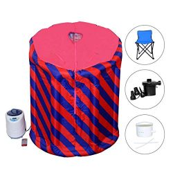 Portable Sauna Inflatable Saunas for Home – Personal Steam Room Tent Spa with Chair – ...