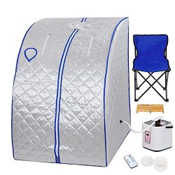Instahibit 2L Portable Steam Sauna Personal Foldable Spa Tent Detox Therapy Weight Loss Body Sli ...