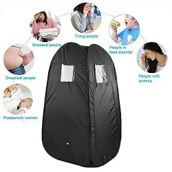 Portable Home Sauna Tent, Pop Up Privacy Dressing Changing Room for Camping Biking Toilet Shower ...