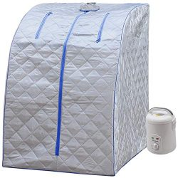Durherm Portable Personal Therapeutic Spa Home Steam Sauna Weight Loss Slimming Detox (Blue Outl ...