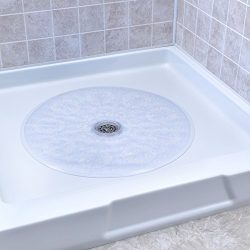 SlipX Solutions Clear Round Shower Stall Mat Provides Reliable Slip-Resistance (23″ Sides, ...