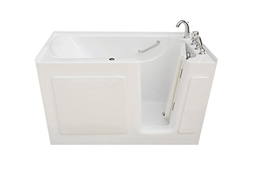 Signature Bath LPI4730-W-RD Walkin Whirlpool Bathtub with Right Drain and Door, 47″ x 30&# ...