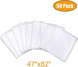 METCRY Plastic Sheeting for Body Wrap Used Inside a Far Infrared Sauna Blanket 47″x82̸ ...