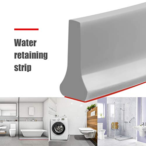 Collapsible Shower Threshold Water Dam, Shower Water Damn Barrier and Retention System, Keeps Wa ...