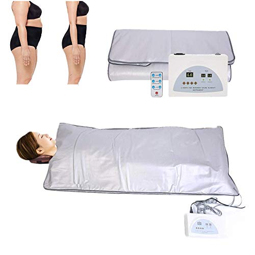 Digital Far-Infrared Heat Sauna Blanket 2 Zone Controller for Body Shaping Weight Loss Reduce We ...