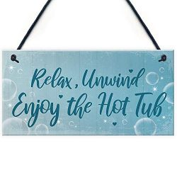 WEIMEILD HOT TUB Sign Hanging Plaque Hot Tub Rules Sign Garden Summer House Plaque Home Sign 10& ...