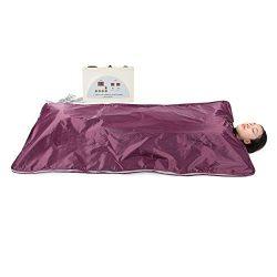 Ejoyous Far Infrared Sauna Blanket, Portable Digital Heat Sauna Slimming Blanket Body Shaper Wei ...