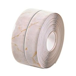Marble Effect Caulk Strip, Bathroom PE Self Adhesive Sealant Tape, Waterproof Sealing Tape for B ...