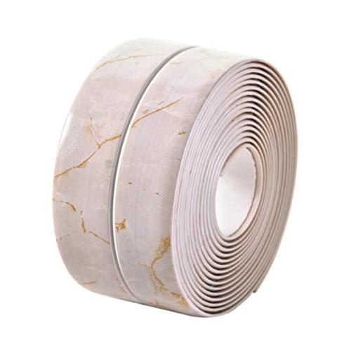 Marble Effect Caulk Strip, Bathroom PE Self Adhesive Sealant Tape, Waterproof Sealing Tape for B ...