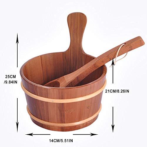 Glossrise Sauna Bathroom Natural Bath Accessories Hot Tubs Supplies Sauna Bucket with Ladle Hand ...
