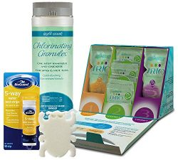 HotTubClub 3 Month Enhancer and Spa Sanitizer Chemical Startup Kit – Use for Simple, Soft  ...