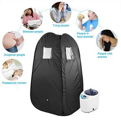 Dry Steam Bath Sauna Heater Stove,2L Portable Home Spa Steam Sauna Tent Loss Weight Slimming Ski ...
