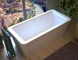 Atlantis Whirlpools 3267AS Aquarius 32 x 67 x 22 inch Rectangular Freestanding Soaker Bathtub