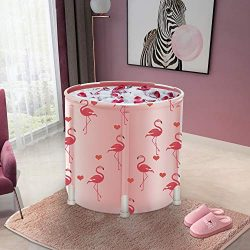 LUCKUP Portable Bathtub, Foldable Free Standing Soaking Bath Tub Easy to Install, Eco-Friendly B ...